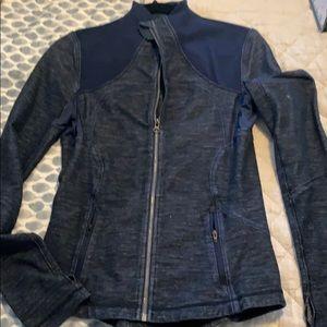 Lululemon Navy Zip up athletic jacket size 4